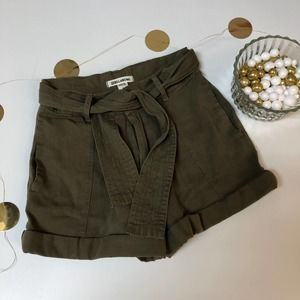 Billabong Day After Army Green Shorts with Belt